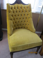 Antique upholstered/wood chair