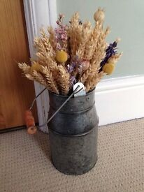 Wedding centre piece, 10 milk churns with flowers