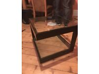 Black gloss and glass coffee table x 2