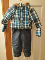 18-24 months boy's snow suite with mittens