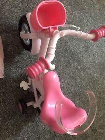 Baby born bike and dress