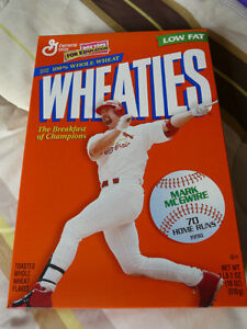 Wheaties collectible cereals: McGwire, Ali, Clemens