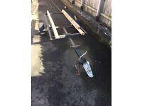 Trailer frame for boat motorbike motocross quad