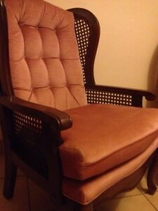 VERY EXCELLENT! vintage high back wing chair