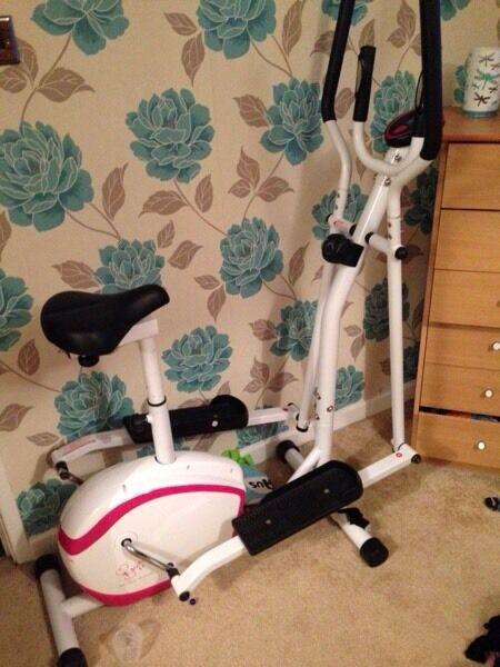 Davina McCall 2 in 1 cross trainer/exercise bike