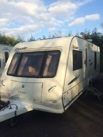 Elddis crusader twin axel fixed bed