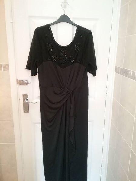 Ladies Cotton Traders Long Black Dress