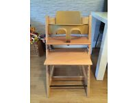 Stokke Tripp Trapp highchair with baby set