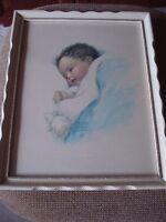antiquité (2) cadre de bébé 1916 Bessie Pease Gutmann
