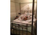 Original Brass Victorian 4 poster bed