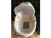 Mamas & Papas Moses basket with stand. £10.00
