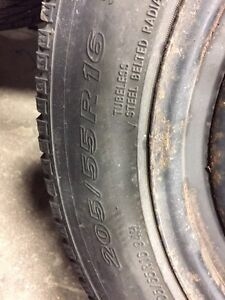 Winter tires with rims  205/55/16 from Audi A4  London Ontario image 2