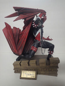 spawn statue signed with box orinial art mcfarlanes