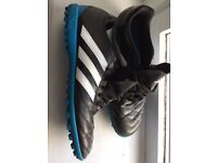 Adidas astro turf football boots shoes size 12 black blue