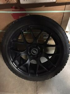 AUDI WINTER MAGS AND TIRES BLIZZAK ALMOST NEW 225-45-18