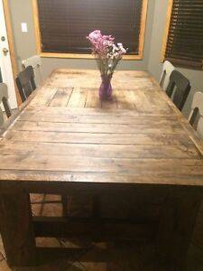 Reclaimed wood table 8' x 4'3