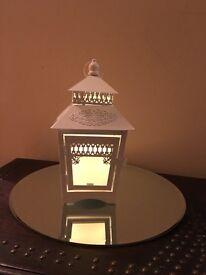 6 small vintage white lanterns for wedding or Christmas decoration