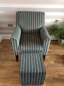 NEXT occasional chair and footstool
