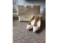 Jimmy choo wedding shoes size 7 1/2