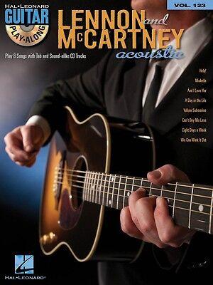 Lennon & McCartney Acoustic Sheet Music Guitar Play-Along Book and CD  000701614