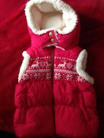 Next red body warmer age 5-6