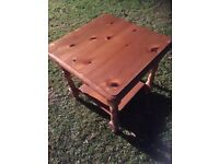 2 tier pine coffee table