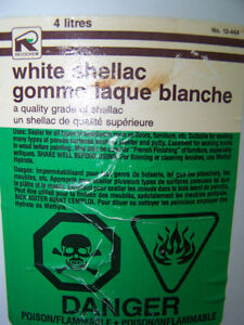 Schellac blanc recochem Gomme lacque - gallon ½ prix Saint-Hyacinthe Québec image 2