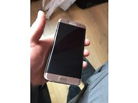 Samsung S7 EDGE Gold On o2 Tesco Giffgaff