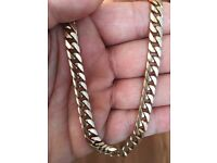 Men's gold chain Necklace. 9 ct 21 inch 53gramm Hallmarked