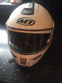 MT Flip up helmet with Bluetooth headset