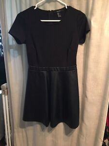 Forever 21 faux leather bottom dress