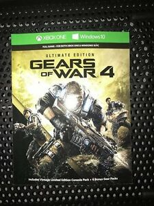 Gears of War 4: Ultimate Edition for Xbox One and Windows 10 Maryland Newcastle Area Preview