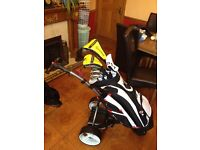 Full set of Taylor Made Rbladez and Motorcaddy golf trolley