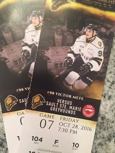 Great Seats to Friday Oct 28th's knights game