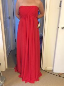 Red Chiffon dress - prom, special occasion dress