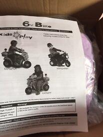 6v brand new princess bike