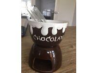 Butlers chocolate fondue kitchen set (melting bowl, kitchen appliance)