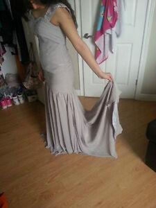 Grey/Silver Ruffled Dress for Sale! Windsor Region Ontario image 2