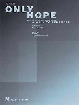 Only Hope Sheet Music Easy Piano Mandy Moore NEW 000110131
