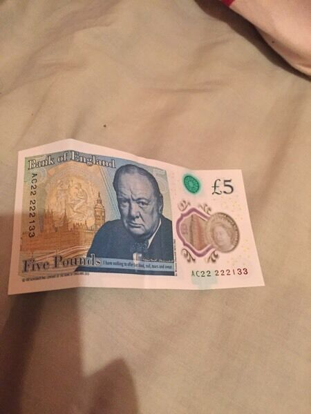 I have 4 rare £5 notes