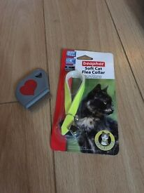 Cat Kitten NEW Soft Flea Collar & Flea Comb