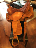 "16"" HANDMADE CIRCLE Y ROPING SADDLE"