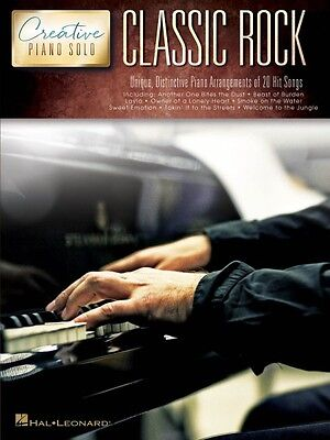 Classic Rock Creative Piano Solos Sheet Music Piano Solo SongBook NEW -