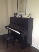 Gently used Yamaha U3 for sale with bench