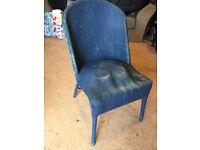 Lloyd Loom style vintage office / dining chair.
