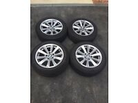 BMW 5 SERIES F10 17 inch ALLOY WHEELS WITH TYRES (RUN-FLAT)