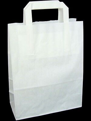 50 WHITE Paper Carrier Bags 7