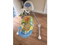 Baby cradle and swing