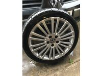 "Golf mk5 R32 18"" alloys with basically brand new tyres 5 stud"