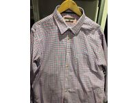 XL Men's pink and blue check shirt